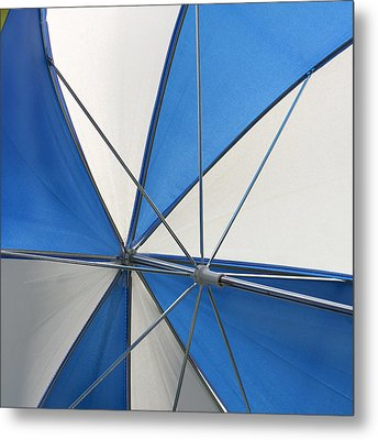 Beach Umbrella Metal Print by Art Block Collections