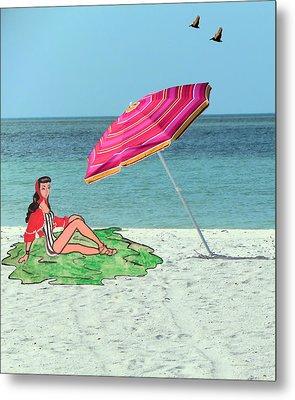 Beach Vacation Metal Print by Rosalie Scanlon