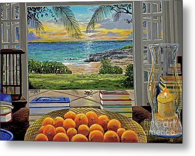 Beach View Metal Print by Carey Chen