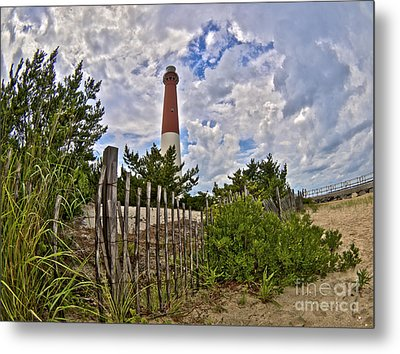 Beach View Of Barney Metal Print by Mark Miller