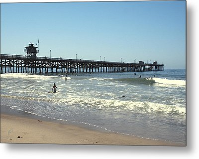 Beach View With Pier 2 Metal Print