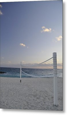 Beach Volleyball Metal Print by A R Williams
