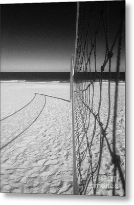 Beach Volleyball Net Metal Print