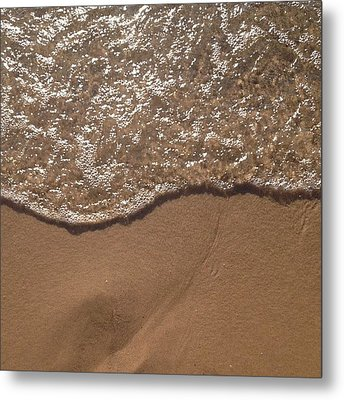 Beach Where The Water Meets The Sand Metal Print