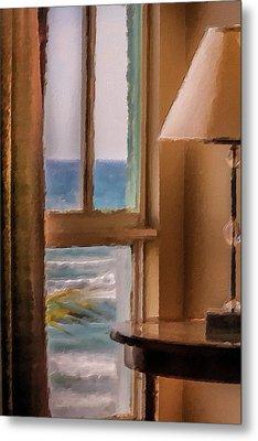 Beach Window Metal Print by Andrea  OConnell