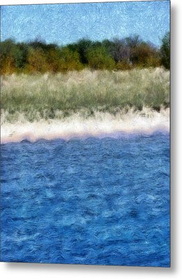 Beach With Short Dune Metal Print by Michelle Calkins