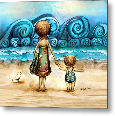 Beachcombers Metal Print by Karin Taylor