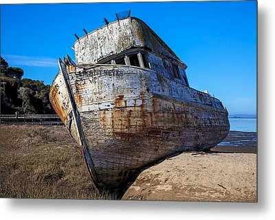 Beached Point Reyes Metal Print by Garry Gay