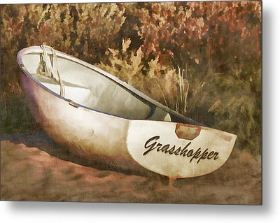 Beached Rowboat Metal Print