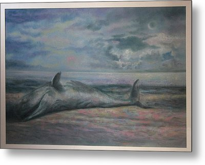 Beached Whale Metal Print by Paez  Antonio