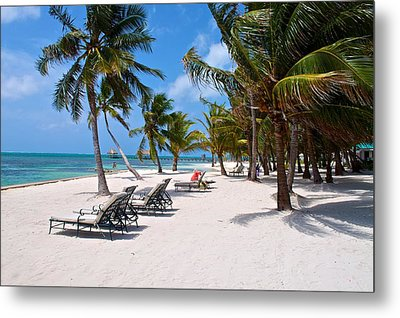 Beachy Belize Metal Print by Kristina Deane
