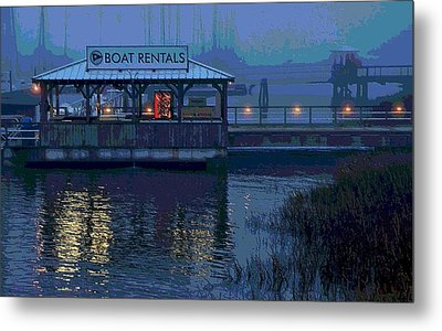 Metal Print featuring the painting Beacon For Fun Times - Art by Laura Ragland