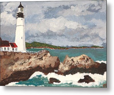 Metal Print featuring the painting Beacon Of Love by Cynthia Morgan