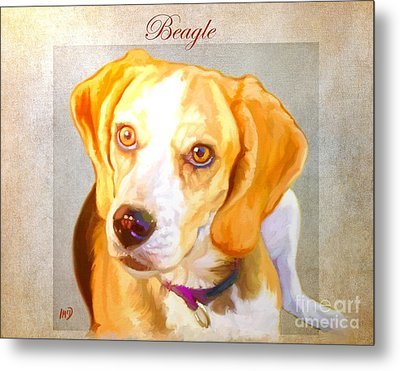 Beagle Art Metal Print
