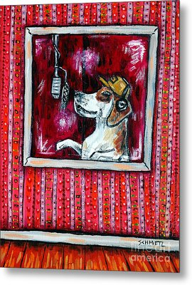 Beagle In The Vocal Booth Metal Print by Jay  Schmetz
