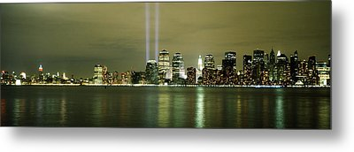Beams Of Light, New York, New York Metal Print by Panoramic Images