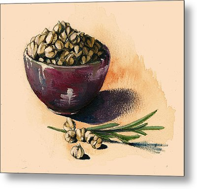 Beans Chickpeas Metal Print by Alessandra Andrisani