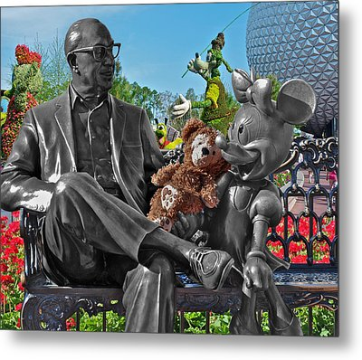 Bear And His Mentors Walt Disney World 03 Metal Print by Thomas Woolworth