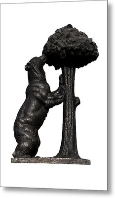 Metal Print featuring the photograph Bear And The Madrono Tree by Fabrizio Troiani