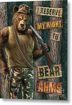 Bear Arms Metal Print by JQ Licensing Jeff Wack
