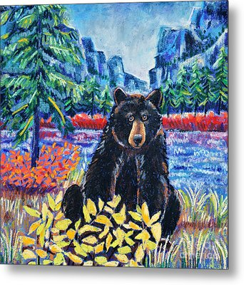 Bear By The Lake Metal Print by Harriet Peck Taylor