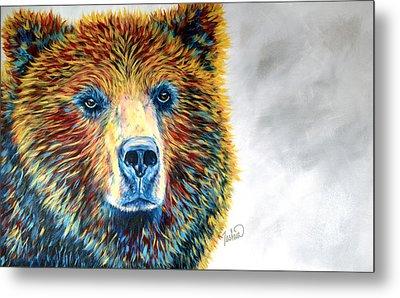 Bear Daze Metal Print by Teshia Art