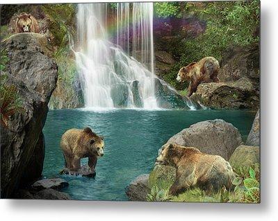 Bear Falls Metal Print