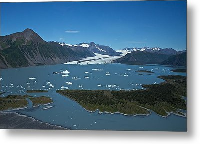 Metal Print featuring the photograph Bear Glacier Seward Alaska by Michael Rogers