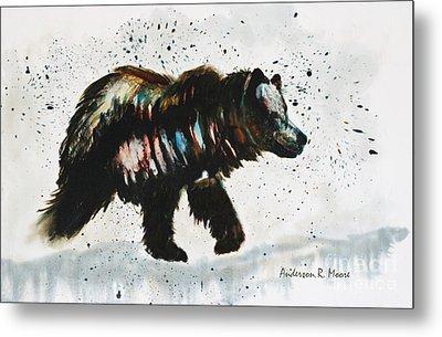 Bear Hunter Metal Print
