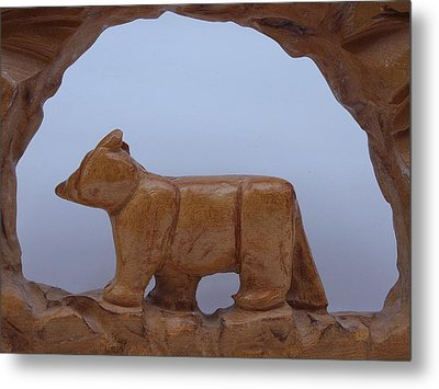 Bear In A Cave Metal Print by Robert Margetts