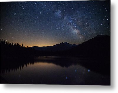 Bear Lake Milky Way Metal Print