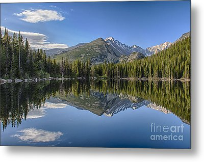 Bear Lake Reflection Metal Print