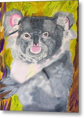 Koala Hug Metal Print