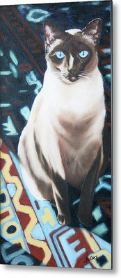 Metal Print featuring the painting Bear by Nancy Jolley