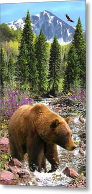 Metal Print featuring the painting Bear Necessities by Doug Kreuger