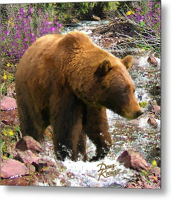 Metal Print featuring the painting Bear Necessities II by Doug Kreuger