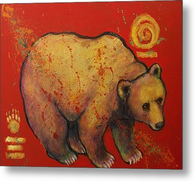 Bear Paw Grizzly Bear Metal Print