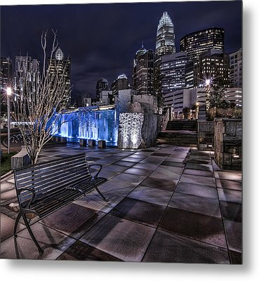 Bearden Bench Metal Print
