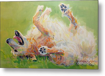 Bears Backscratch Metal Print by Kimberly Santini