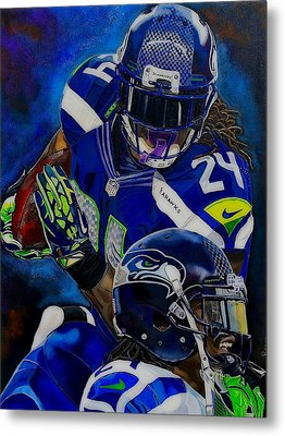 Marshawn Lynch Beast Mode Metal Print