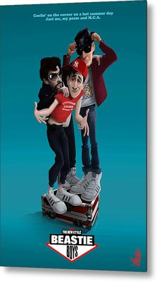 Beastie Boys_the New Style Metal Print by Nelson Dedos Garcia