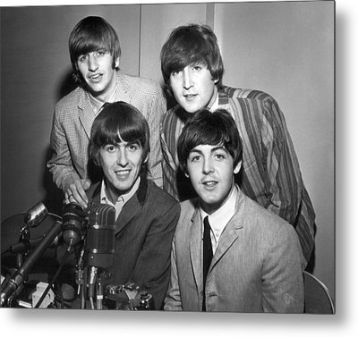 Beatle Interview Metal Print by Retro Images Archive