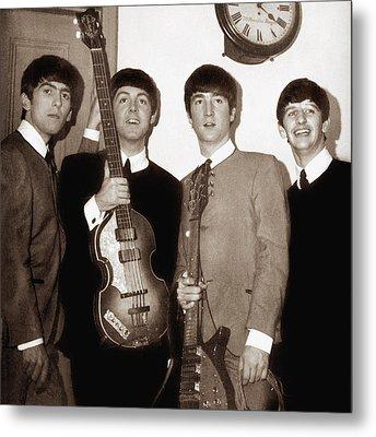 Beatles 1963 Metal Print by Chris Walter