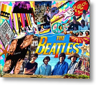 Beatles For Summer Metal Print by Mo T