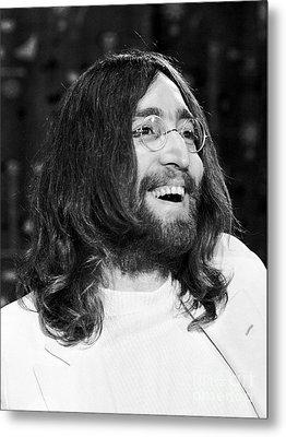 Beatles John Lennon 1969 Metal Print by Chris Walter
