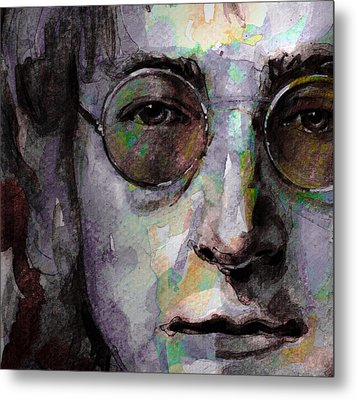 Beatles - John Lennon Metal Print by Laur Iduc