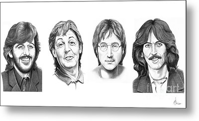 Beatles Metal Print by Murphy Elliott
