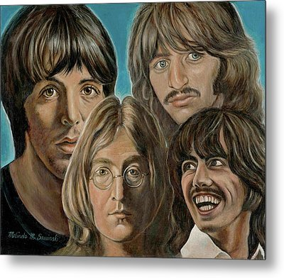Beatles The Fab Four Metal Print