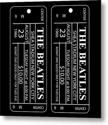 Metal Print featuring the digital art Beatles Tickets by Marvin Blaine
