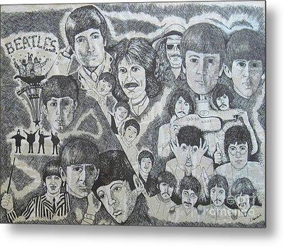 Beatles Tribute Metal Print by Susan Plenzick